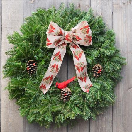Cardinal -  Balsam Wreath