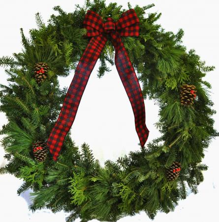 Lumberjack - 36 inch Mixed Greens Wreath