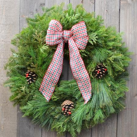Merry Christmas - Mixed Green Wreath