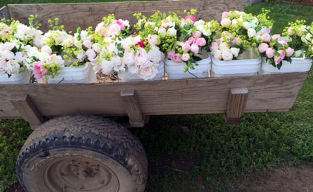 Cart with our Duluth Peonies